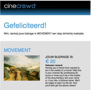 Ik steun The making of movement