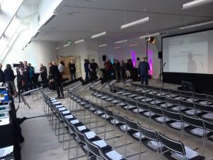 het symposium in het voormalige Esso gebouw.