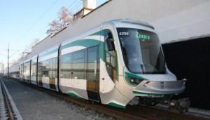 een tram aangedreven door brandstofcellen