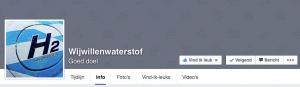 Facebook pagina van Wijwillenwaterstof