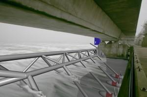 Onderwater turbines bij de Oosterschelde kering