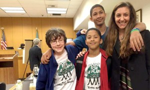 Plaintiffs celebrate after their court victory in Washington state. Photo credit: Our Children's Trust