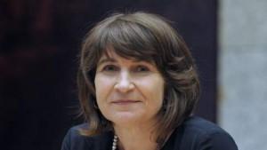 """© anp. Minister Lilianne Ploumen: """"Mijn overtuiging is dat je in je eigen land wil blijven als je er maar kansen krijgt."""""""
