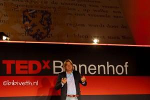 Rob Baan tijdens Tedx Binnenhof