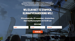Klimaat manifestatie Museumplein