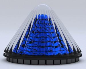Gen vlak paneel maar een draaiende zonnecollector